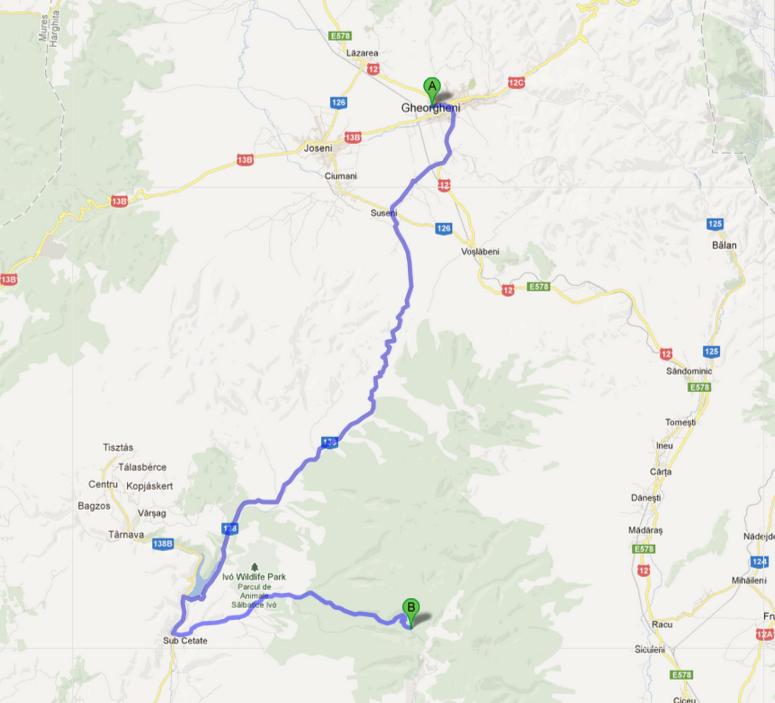 madarasi hargita térkép Madarasi Hargita   Megközelítés autóval